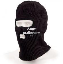 Шапка-маска Tagrider Expedition 2 отверстия вязаная черная