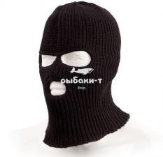 Шапка-маска Tagrider Expedition 3 отверстия вязаная черная