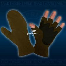 Перчатки-варежки Kosadaka флис с мембраной