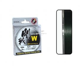ШНУР GOSEN W 4 BRAID HARD TYPE, 150M Green